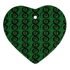 Abstract Pattern Graphic Lines Heart Ornament (two Sides)