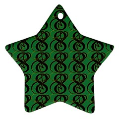 Abstract Pattern Graphic Lines Star Ornament (two Sides)