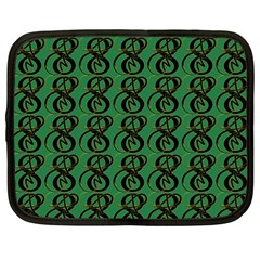 Abstract Pattern Graphic Lines Netbook Case (large)