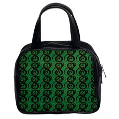 Abstract Pattern Graphic Lines Classic Handbags (2 Sides)