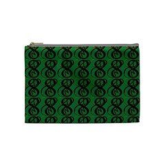 Abstract Pattern Graphic Lines Cosmetic Bag (medium)