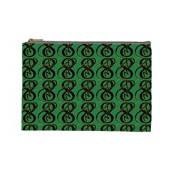 Abstract Pattern Graphic Lines Cosmetic Bag (Large)