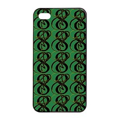 Abstract Pattern Graphic Lines Apple Iphone 4/4s Seamless Case (black)