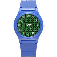 Abstract Pattern Graphic Lines Round Plastic Sport Watch (s)