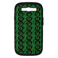 Abstract Pattern Graphic Lines Samsung Galaxy S Iii Hardshell Case (pc+silicone)