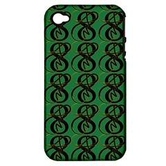 Abstract Pattern Graphic Lines Apple Iphone 4/4s Hardshell Case (pc+silicone)
