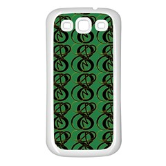 Abstract Pattern Graphic Lines Samsung Galaxy S3 Back Case (white)