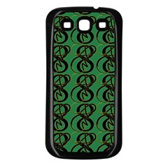 Abstract Pattern Graphic Lines Samsung Galaxy S3 Back Case (black)