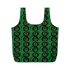 Abstract Pattern Graphic Lines Full Print Recycle Bags (m)