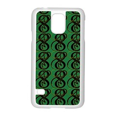 Abstract Pattern Graphic Lines Samsung Galaxy S5 Case (white)
