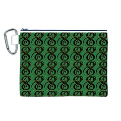 Abstract Pattern Graphic Lines Canvas Cosmetic Bag (l)
