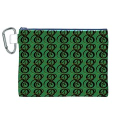 Abstract Pattern Graphic Lines Canvas Cosmetic Bag (xl)
