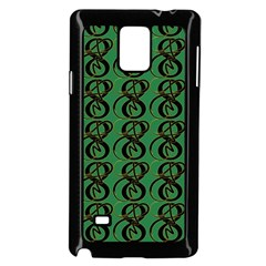 Abstract Pattern Graphic Lines Samsung Galaxy Note 4 Case (black)