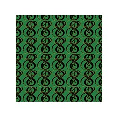 Abstract Pattern Graphic Lines Small Satin Scarf (square)