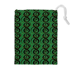 Abstract Pattern Graphic Lines Drawstring Pouches (extra Large)