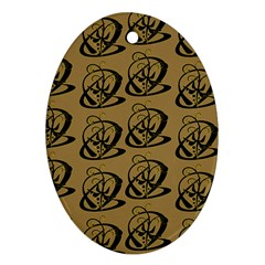Abstract Swirl Background Wallpaper Ornament (oval)