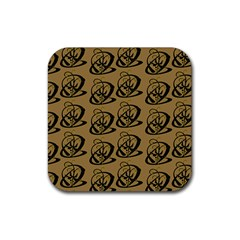 Abstract Swirl Background Wallpaper Rubber Square Coaster (4 Pack)