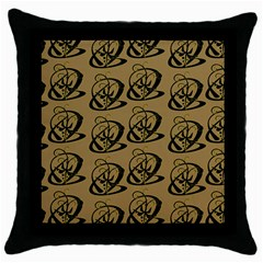 Abstract Swirl Background Wallpaper Throw Pillow Case (black)
