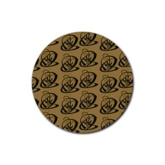 Abstract Swirl Background Wallpaper Rubber Coaster (round)