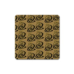 Abstract Swirl Background Wallpaper Square Magnet