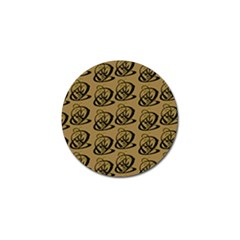 Abstract Swirl Background Wallpaper Golf Ball Marker