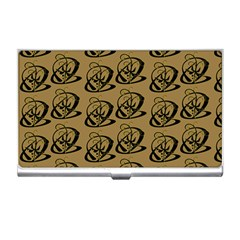 Abstract Swirl Background Wallpaper Business Card Holders