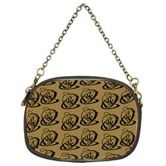 Abstract Swirl Background Wallpaper Chain Purses (two Sides)
