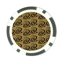 Abstract Swirl Background Wallpaper Poker Chip Card Guard (10 Pack)