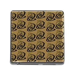Abstract Swirl Background Wallpaper Memory Card Reader (square)