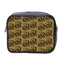 Abstract Swirl Background Wallpaper Mini Toiletries Bag 2 Side