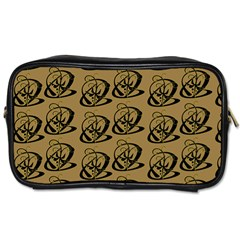 Abstract Swirl Background Wallpaper Toiletries Bags