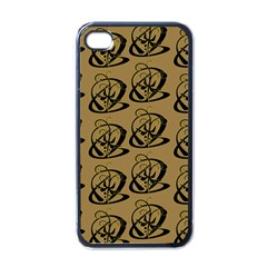 Abstract Swirl Background Wallpaper Apple Iphone 4 Case (black)