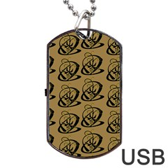 Abstract Swirl Background Wallpaper Dog Tag Usb Flash (one Side)
