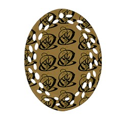 Abstract Swirl Background Wallpaper Ornament (oval Filigree)