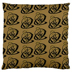 Abstract Swirl Background Wallpaper Large Cushion Case (two Sides)