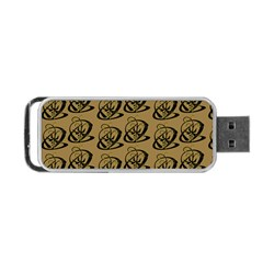 Abstract Swirl Background Wallpaper Portable Usb Flash (one Side)
