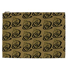 Abstract Swirl Background Wallpaper Cosmetic Bag (xxl)
