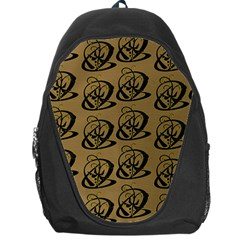 Abstract Swirl Background Wallpaper Backpack Bag