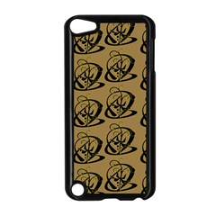 Abstract Swirl Background Wallpaper Apple Ipod Touch 5 Case (black)