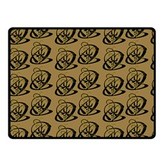 Abstract Swirl Background Wallpaper Double Sided Fleece Blanket (small)