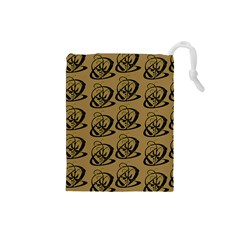 Abstract Swirl Background Wallpaper Drawstring Pouches (small)