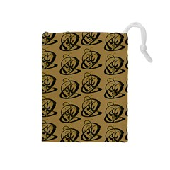 Abstract Swirl Background Wallpaper Drawstring Pouches (medium)