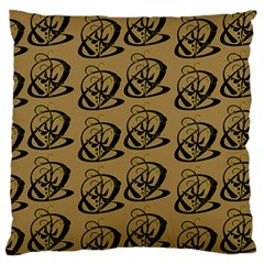 Abstract Swirl Background Wallpaper Large Flano Cushion Case (two Sides)
