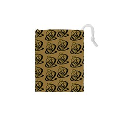 Abstract Swirl Background Wallpaper Drawstring Pouches (xs)