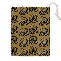 Abstract Swirl Background Wallpaper Drawstring Pouches (xxl)