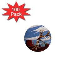 Acrylic Paint Paint Art Modern Art 1  Mini Buttons (100 pack)