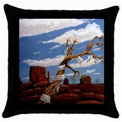 Acrylic Paint Paint Art Modern Art Throw Pillow Case (black)