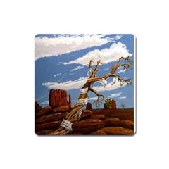 Acrylic Paint Paint Art Modern Art Square Magnet