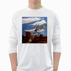 Acrylic Paint Paint Art Modern Art White Long Sleeve T Shirts