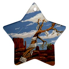 Acrylic Paint Paint Art Modern Art Star Ornament (two Sides)